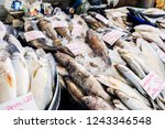 grouper sea fish with fresh... | Shutterstock . vector #1243346548