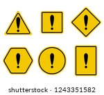 exclamation and warning sign... | Shutterstock . vector #1243351582