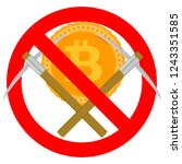 ban mining and forbidden... | Shutterstock . vector #1243351585