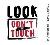 cute girl slogan. print for t... | Shutterstock .eps vector #1243355422