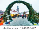 riga  latvia   december 28 ... | Shutterstock . vector #1243358422