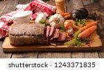 roast beef  sauce and ingredient | Shutterstock . vector #1243371835
