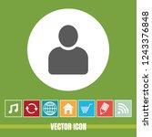 very useful vector icon of user ... | Shutterstock .eps vector #1243376848