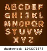 set of baked gingerbread... | Shutterstock .eps vector #1243379875