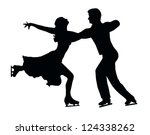 Silhouette Of Ice Skater Coupl...