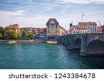 basel  switzerland   august 1 ... | Shutterstock . vector #1243384678
