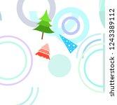 christmas card  fir tree ...   Shutterstock .eps vector #1243389112