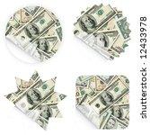 illustrations of money stickers ... | Shutterstock . vector #12433978