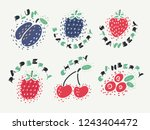 vector illustration of berry... | Shutterstock .eps vector #1243404472