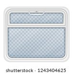 window in the train compartment ...   Shutterstock .eps vector #1243404625
