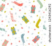 seamless christmas pattern with ...   Shutterstock .eps vector #1243416292
