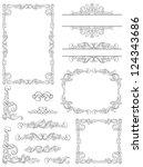 victorian design elements.... | Shutterstock .eps vector #124343686
