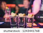 aperitif with friends in the... | Shutterstock . vector #1243441768