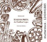 fast food art. vintage pizza... | Shutterstock .eps vector #1243441885