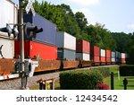 Freight Train Across Railroad...