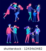 family spend time together ... | Shutterstock .eps vector #1243463482
