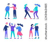 vector people in bad emotions ... | Shutterstock .eps vector #1243463485