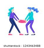 vector people in bad emotions ... | Shutterstock .eps vector #1243463488
