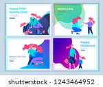 set of landing page templates... | Shutterstock .eps vector #1243464952