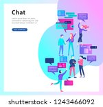 concept landing page template ... | Shutterstock .eps vector #1243466092
