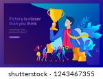 business team success hold... | Shutterstock .eps vector #1243467355