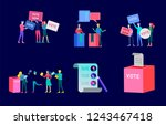 voting and election concept.... | Shutterstock .eps vector #1243467418