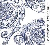 abstract vector decorative... | Shutterstock .eps vector #1243474018