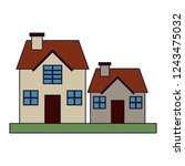 houses residence buildings   Shutterstock .eps vector #1243475032