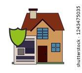 houses residence buildings   Shutterstock .eps vector #1243475035