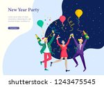 landing page template or card... | Shutterstock .eps vector #1243475545