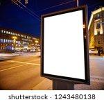 billboard outdoor advertising... | Shutterstock . vector #1243480138