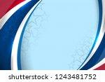 usa color flag concept... | Shutterstock .eps vector #1243481752