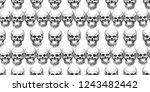 seamless pattern with skulls.... | Shutterstock . vector #1243482442