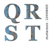 Wood Letter Q R S T