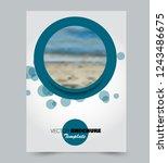 flyer template. brochure layout.... | Shutterstock .eps vector #1243486675