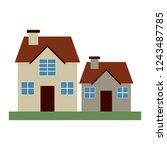 houses residence buildings   Shutterstock .eps vector #1243487785