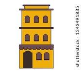 residence building isolated   Shutterstock .eps vector #1243491835