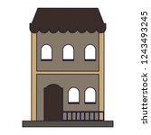 residence building isolated   Shutterstock .eps vector #1243493245