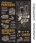 waffle and pancake menu...   Shutterstock .eps vector #1243493812