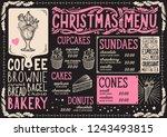 christmas menu template for... | Shutterstock .eps vector #1243493815