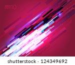 sparking lighting effect | Shutterstock .eps vector #124349692