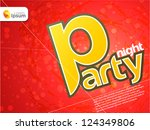 party night theme | Shutterstock .eps vector #124349806
