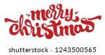 merry christmas hand lettering... | Shutterstock .eps vector #1243500565