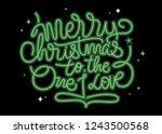 merry christmas hand lettering... | Shutterstock .eps vector #1243500568