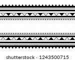 traditional folk sadu arabian... | Shutterstock .eps vector #1243500715