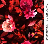 seamless floral background... | Shutterstock .eps vector #1243500742