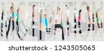 collage of a group of fit young ... | Shutterstock . vector #1243505065