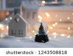 christmas decoration  white...   Shutterstock . vector #1243508818
