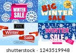 winter sale banner. set of... | Shutterstock .eps vector #1243519948