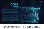 golf from the blue points of... | Shutterstock .eps vector #1243524868